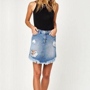Mavi Sonia Destructed Denim Skirt size S